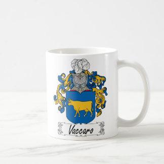 Escudo de la familia de Vaccaro Taza De Café