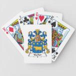 Escudo de la familia de Vacher Baraja Cartas De Poker