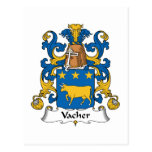 Escudo de la familia de Vacher Postales