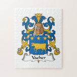 Escudo de la familia de Vacher Puzzle Con Fotos