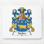 Escudo de la familia de Vacher Alfombrillas De Raton
