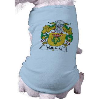 Escudo de la familia de Valdivia Playera Sin Mangas Para Perro