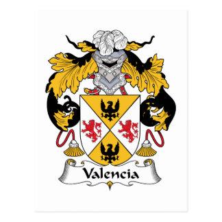 Escudo de la familia de Valencia Tarjeta Postal