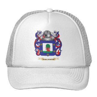 Escudo de la familia de Valente (escudo de armas) Gorras