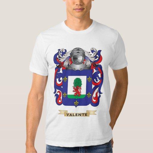 Escudo de la familia de Valente (escudo de armas) Remeras