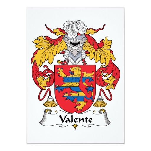 Escudo de la familia de Valente Anuncio Personalizado