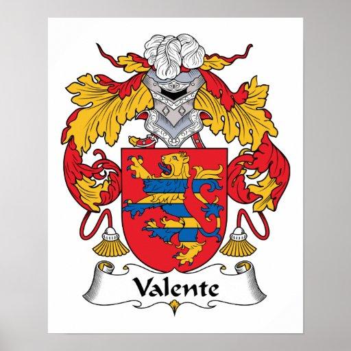 Escudo de la familia de Valente Posters