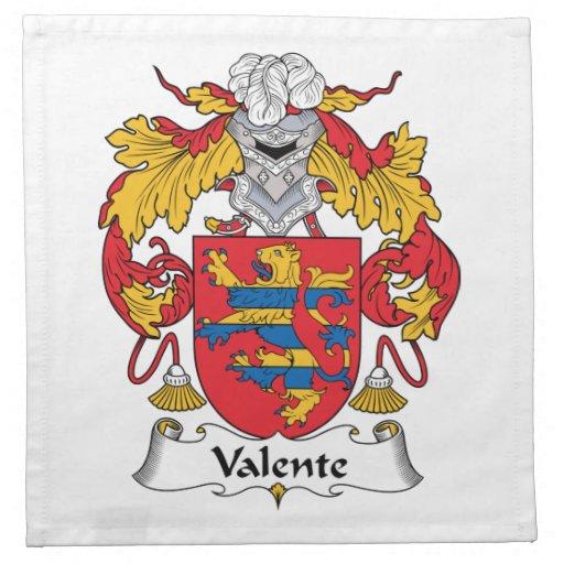 Escudo de la familia de Valente Servilleta