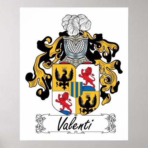 Escudo de la familia de Valentín Póster