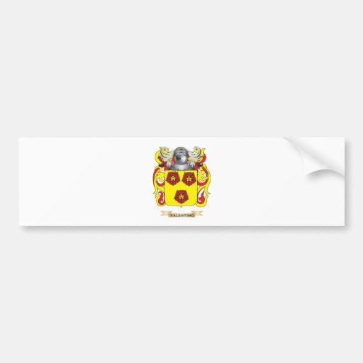 Escudo de la familia de Valentino (escudo de armas Pegatina Para Auto