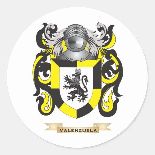 Escudo de la familia de Valenzuela (escudo de Pegatina Redonda