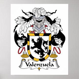 Escudo de la familia de Valenzuela Impresiones