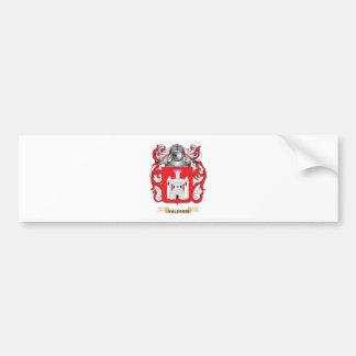 Escudo de la familia de Valerius escudo de armas Etiqueta De Parachoque