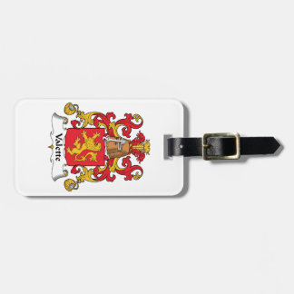Escudo de la familia de Valette Etiqueta Para Maleta