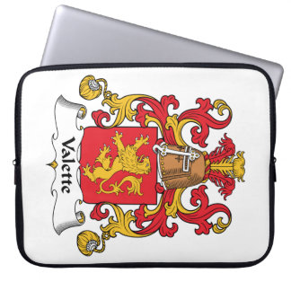 Escudo de la familia de Valette Funda Portátil