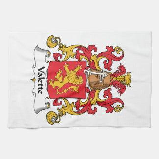 Escudo de la familia de Valette Toalla