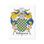 Escudo de la familia de Valladares Impresión En Lona