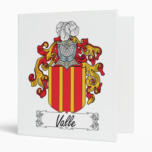 "Escudo de la familia de Valle Carpeta 1"""