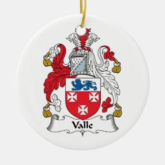 Escudo de la familia de Valle Adorno Redondo De Cerámica