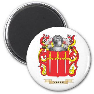 Escudo de la familia de Valle (escudo de armas) Imán Redondo 5 Cm