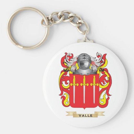 Escudo de la familia de Valle (escudo de armas) Llavero Redondo Tipo Pin