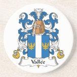 Escudo de la familia de Vallee Posavasos Diseño