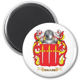 Escudo de la familia de Valles (escudo de armas) Imán Redondo 5 Cm
