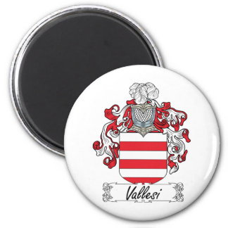 Escudo de la familia de Vallesi Imán Redondo 5 Cm