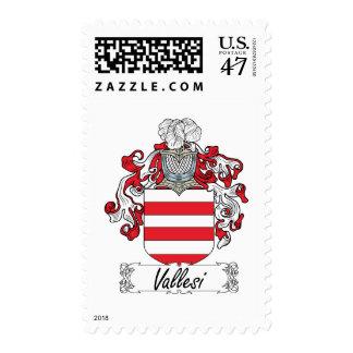 Escudo de la familia de Vallesi Timbres Postales