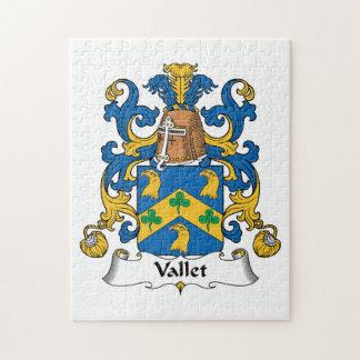Escudo de la familia de Vallet Rompecabezas