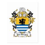 Escudo de la familia de Van Bergen Postales