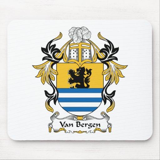 Escudo de la familia de Van Bergen Tapetes De Ratones