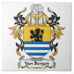 Escudo de la familia de Van Bergen Tejas Ceramicas