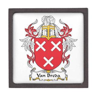 Escudo de la familia de Van Breda Caja De Regalo De Calidad
