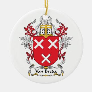 Escudo de la familia de Van Breda Adornos De Navidad