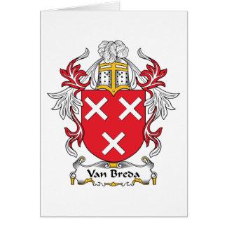 Escudo de la familia de Van Breda Felicitacion