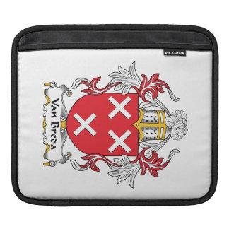 Escudo de la familia de Van Breda Fundas Para iPads