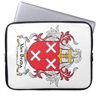 Escudo de la familia de Van Breda Fundas Portátiles