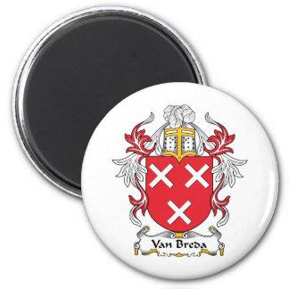 Escudo de la familia de Van Breda Imán De Frigorífico