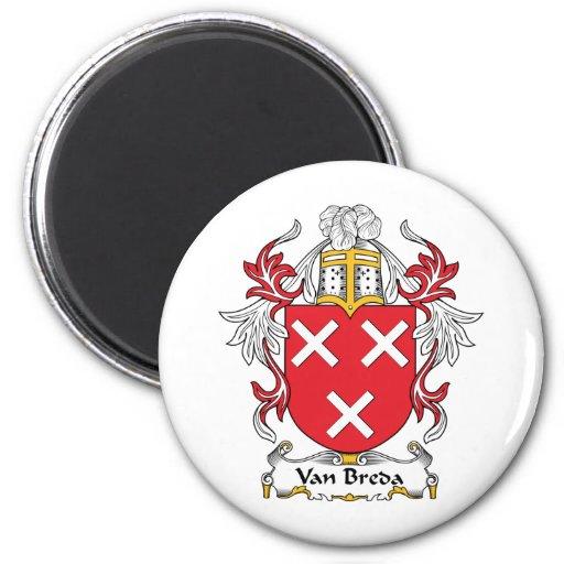 Escudo de la familia de Van Breda Imán Redondo 5 Cm