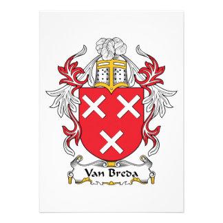 Escudo de la familia de Van Breda Invitación