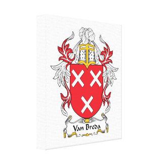 Escudo de la familia de Van Breda Impresiones En Lona Estiradas