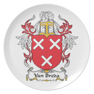 Escudo de la familia de Van Breda Platos Para Fiestas