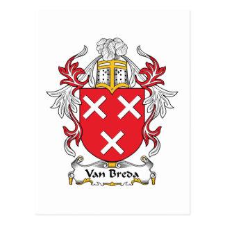 Escudo de la familia de Van Breda Postal