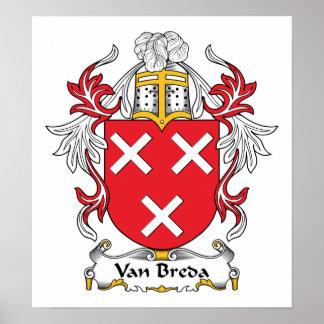 Escudo de la familia de Van Breda Poster
