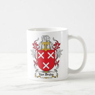 Escudo de la familia de Van Breda Taza De Café