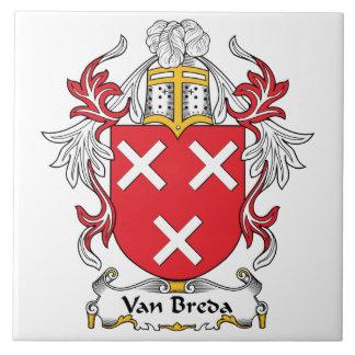 Escudo de la familia de Van Breda Tejas Cerámicas