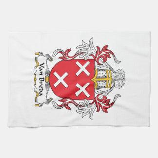 Escudo de la familia de Van Breda Toalla