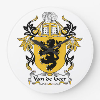 Escudo de la familia de Van de Geer Relojes De Pared
