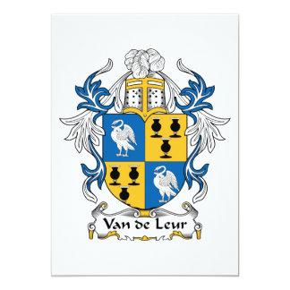 """Escudo de la familia de Van de Leur Invitación 5"""" X 7"""""""